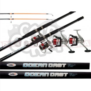 Ocean Cast Sea fishing Set 2 Rods 2 Reels