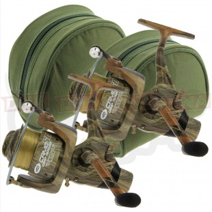 2x NGT Camo 60 Reels with Padded Cases