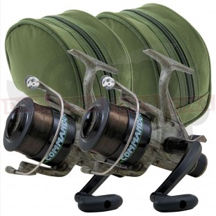 2x Lineaeffe Commando 40 Reels with Padded Cases