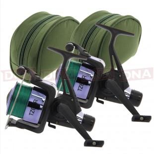 2x TZ60 Carp Runner Reels with Cases