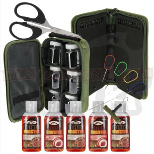 Tackle set with Baiting Tools and Liquids