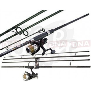 Carbon Travel Dynamic 11ft 4pc Carp Rod with 2BB Reel
