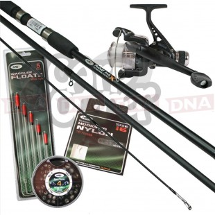 Float Max Rod and Reel Set with Hooks Floats and Shot