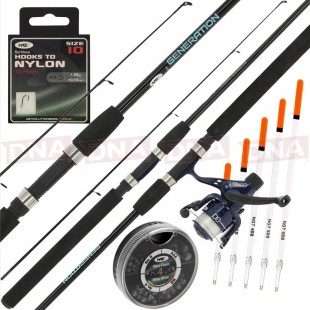 NGT Generation Combo 7ft Rod with Reel Shot and Floats