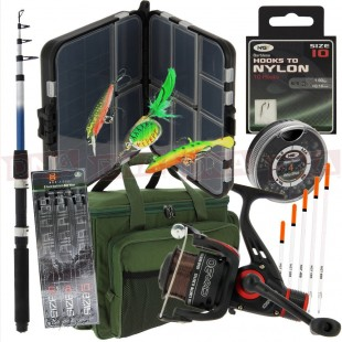 Impressive Fishing Travel Set with Rod Reel Luggage and More!