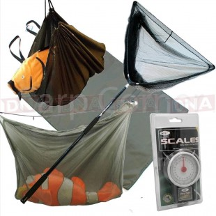 "42"" Landing Net with Handle, Sling, Sack and Landing Mat"