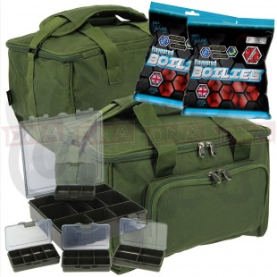 Quickfish Carryall with 4+1 Tackle Box and Boilies
