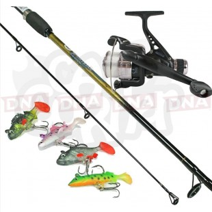 6ft Spinning Rod and Reel Set up with Lures