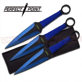 Perfect Point 3pc Blue Kunai Throwing Set