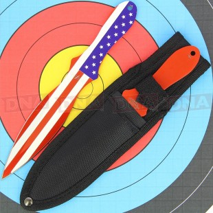 Perfect Point American Flag Throwing Knives
