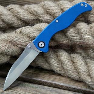 QSP Nokomis Frame Lock Knife - Blue Box