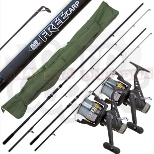 2x Free Carp Rods with 2x Reels and rod Bag