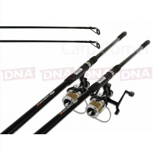 2x Carp Fishing 12ft Rods with 2.75lb Test and 2x Reels + Line