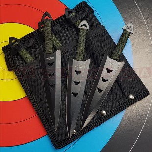 Perfect Point 6pc Angular Kunai Throwing Set