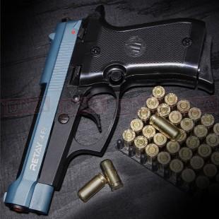 Retay 84 FS 9MM P.A.K Black/Blue Blank Firing Pistol