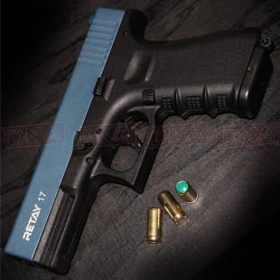 Retay G17 9MM P.A.K Blank Firer Black/Blue