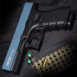 Retay G19C 9MM P.A.K Black/Blue Blank Firing Pistol