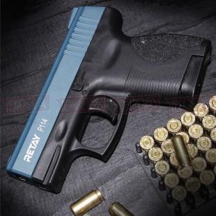 Retay P114 9mm Black/Blue Blank Firing Pistol