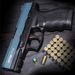 Retay PT24 9mm Black/Blue Blank Firing Pistol