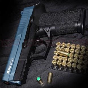 Retay S2022 9MM P.A.K Black/Blue Blank Firing Pistol