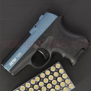 Retay T205 8mm Black/Blue Blank Firing Pistol