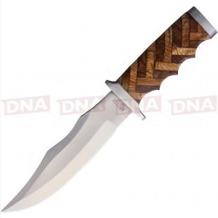 Rough Ryder RR2112 Cross Hatch Fixed Blade Knife Open