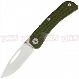 Real Steel Akuma 9112 Green Pocket Knife