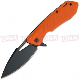 Real Steel Orange Pelican Folding Knife