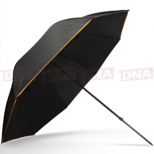 "50"" Deluxe Black Brolly with Tilt Function open"