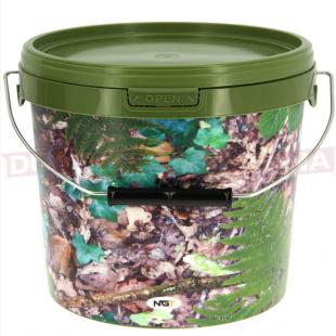 10 Litre NGT Round Camo Bucket