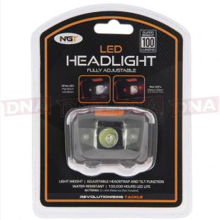 LED Headlight with White and Red Light
