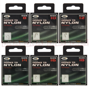 60 Assorted Hooks to Nylon Combo