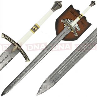 Single Straight Ice Sword with Plaque