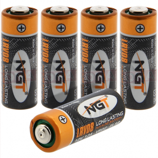 5x Single Cell LRV08 Alkaline NGT Battery