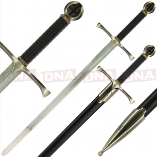 Single Straight Cross Guard Sword Main