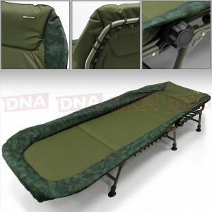 NGT ADVANCED Camo Reclining 6 Leg Bedchair