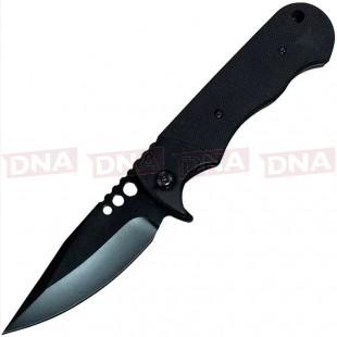 ABKT Phantom Savage Frame Lock Knife Black G-10