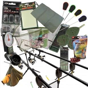 2/3 Rod Carp Fishing Set Up (Set 30, 2 or 3 Rods)
