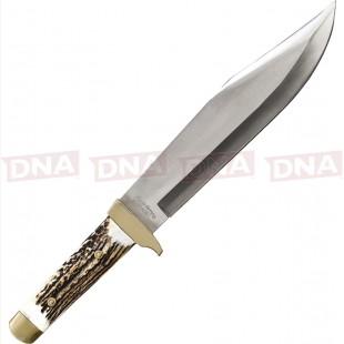 Schrade SCH184STUH Stag Handle Bowie Knife Main