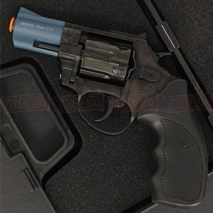 "Ekol Viper 2.5"" 9mm Black/Blue Blank Firing Pistol"