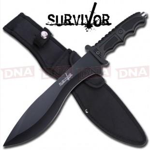 Survivor Black Survival Kukri Knife