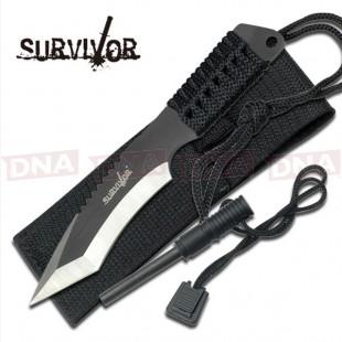 Survivor HK-759 Recurve Tanto Fixed Blade Knife