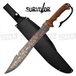 """Survivor 25"""" Filigree Machete"""
