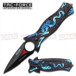 Tac-Force Blue Dragon Spring Assisted Knife