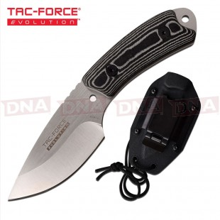 Tac Force Evolution TFE-FIX001-BK Drop Point Outdoors Fixed Blade Knife