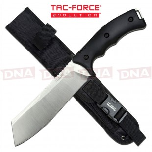 Tac Force Evolution TFE-FIX004-BK High Ground Cleaver Fixed Blade