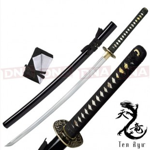 Ten Ryu Hand-Forged Black Katana