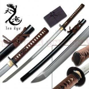 Ten Ryu Hand-Forged Brown Katana