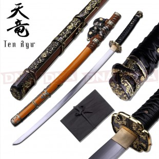 Ten Ryu Hand-Forged Ornate Katana