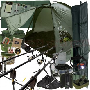The Legend Complete 3Rod Carp Fishing Set Up Main